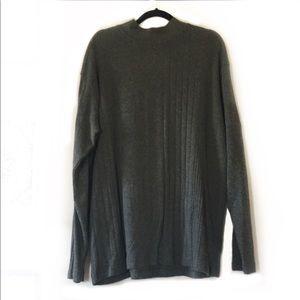 Pierre Cardin Gray Knit Oversized Grandpa Sweater